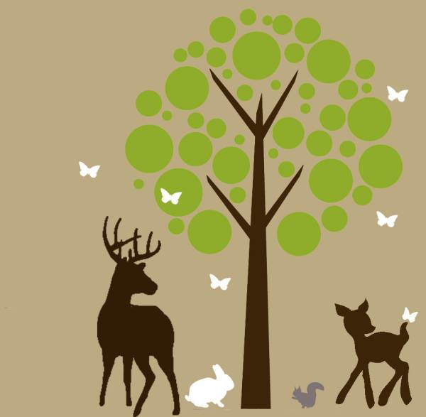 Tree and woodland nursery decals