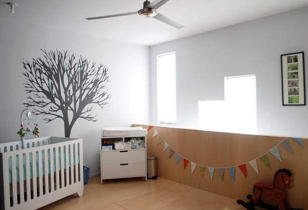 Tree decal in a nursery