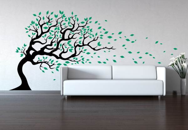 Tree in the wind wall decal decoist - Decorative wall sticker ...