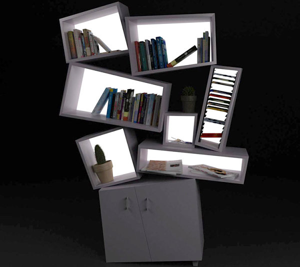 Unique modern bookshelf by Tembolat Gugkaev