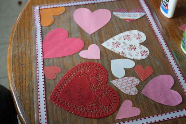 Valentine's Day Place Mat- Creative and Crafty
