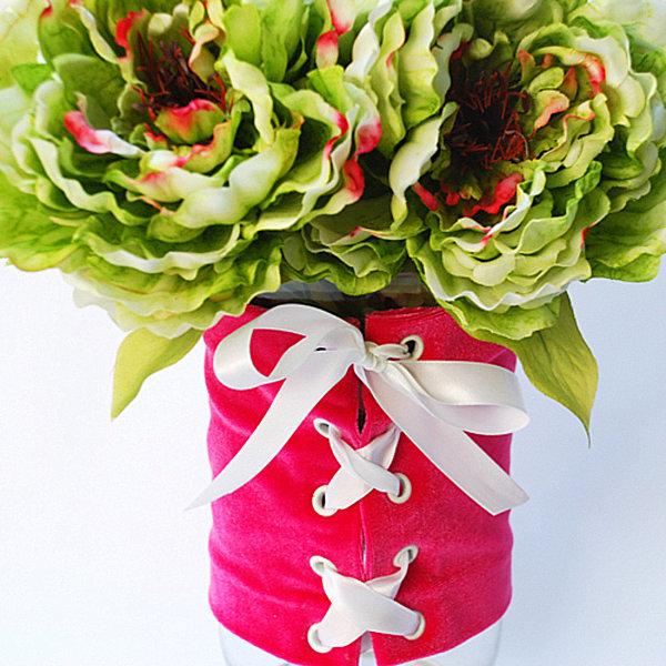 Valentine's Day corset vase