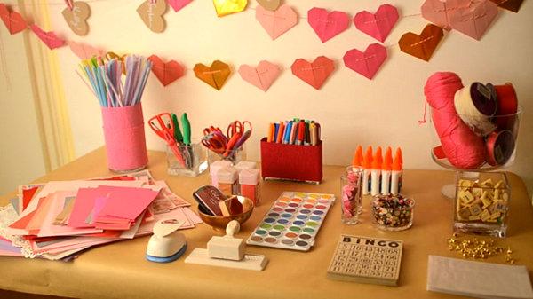 Valentine's Day crafting