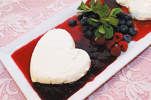 Elegant Valentine's Day dessert