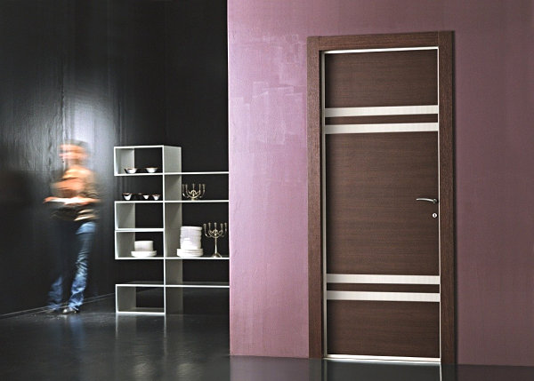 View in gallery Wood and metal modern door & 10 Stylish Door Designs pezcame.com