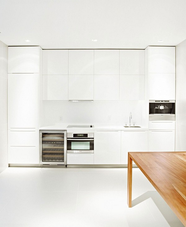 all white kitchen cabinets with a modern theme