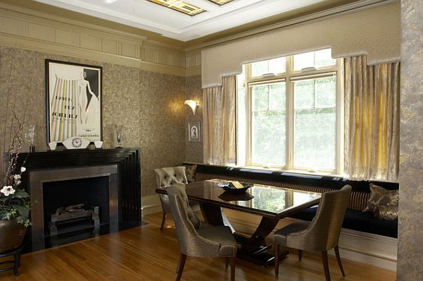Art deco dining area with elegant furniture