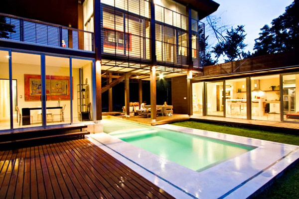 backyard wooden deck
