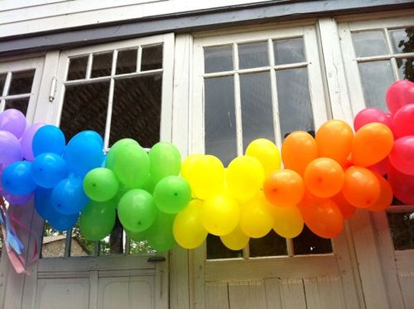 A decorative balloon chain for any type of party