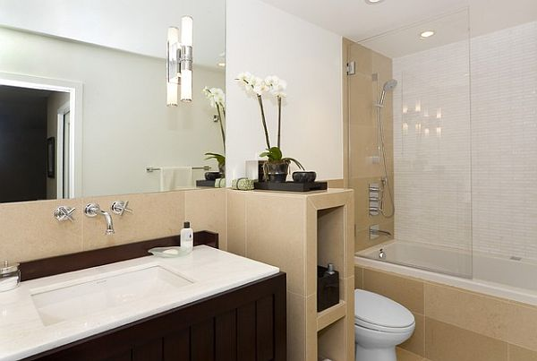 lighting in bathrooms. view in gallery beautiful bathroom lighting idea bathrooms e