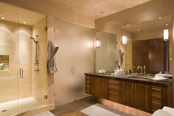 lighting in a bathroom. View In Gallery Modern Bathroom Lighting A B
