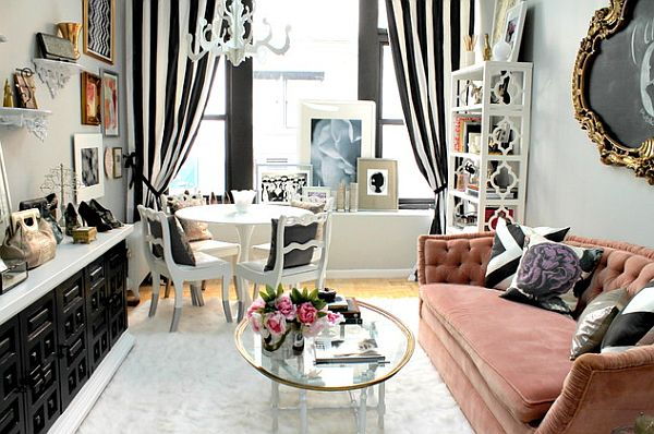 Black And White And Pink Living Room how to decorate your home with color pairs