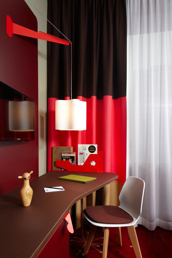 bold red room design
