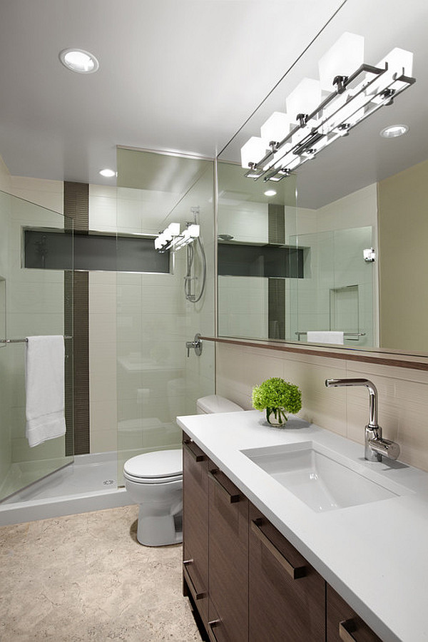 View In Gallery Builtin Ceiling Lamps For The Bathroom