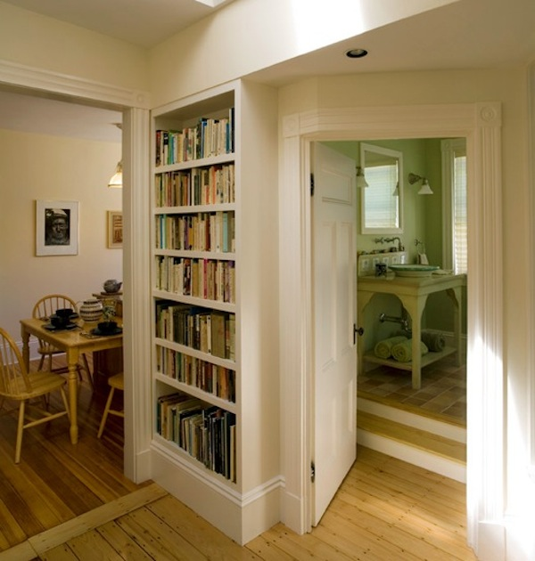 builtin bookshelves hallway ideas