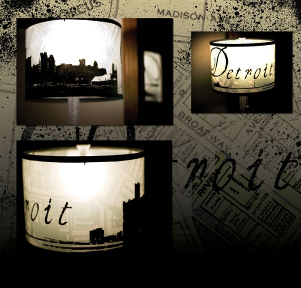 Awesome city scape lampshade