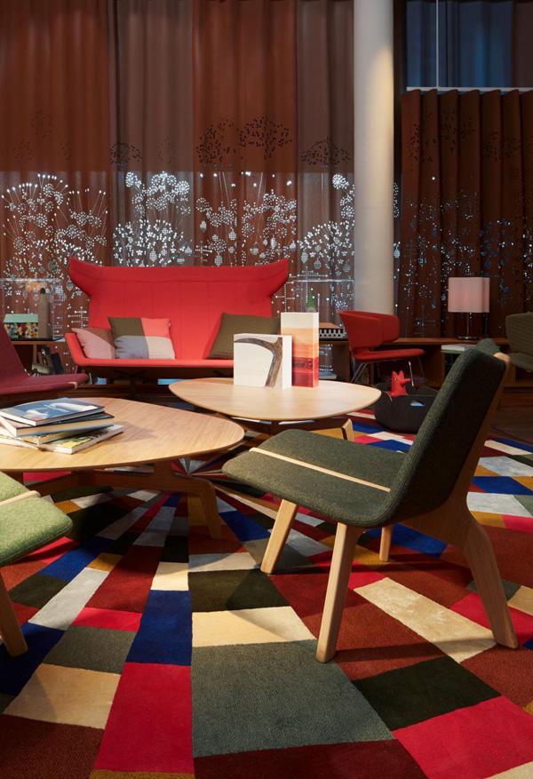 colorful hotel decor