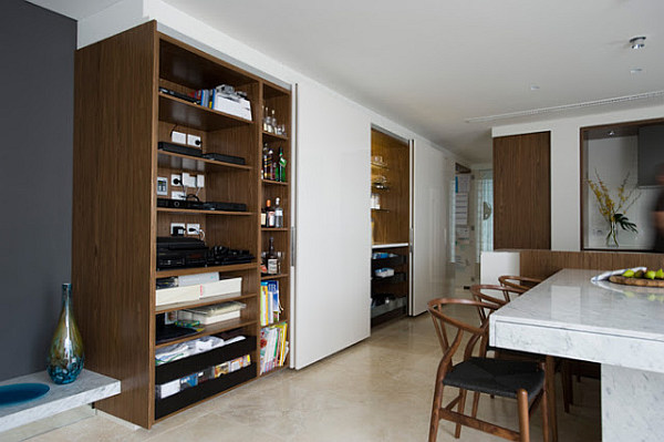 concealed kitchen storage