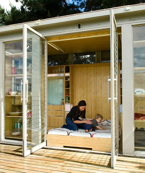 Simple Container Home Ideas: Compact And Sustainable Port-A-Bach Shipping Container