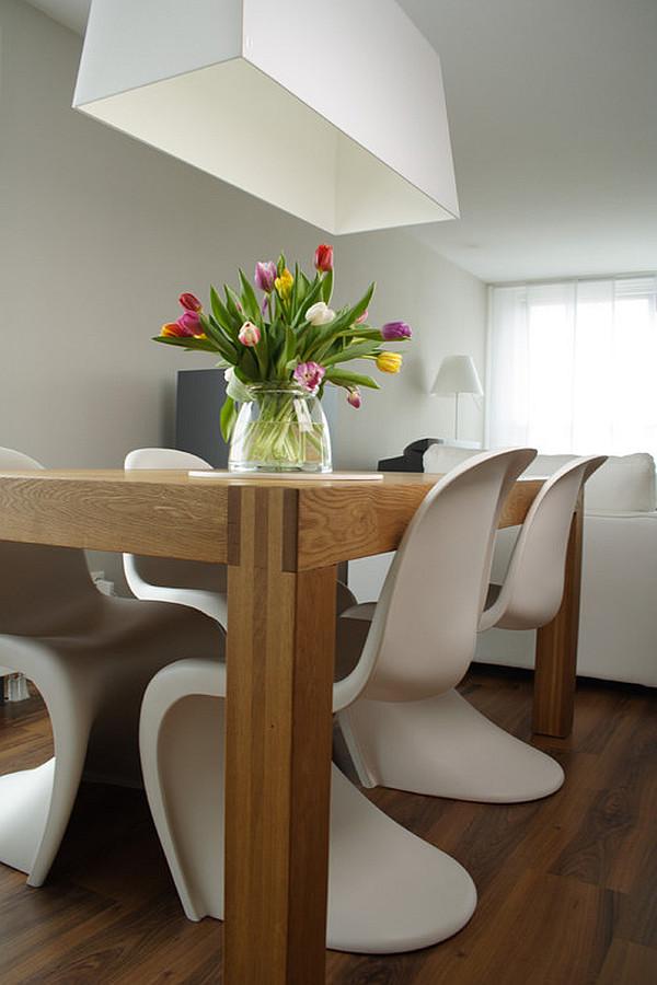 contemporary new york loft dining room