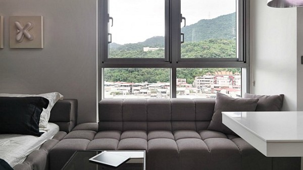 Tiny taiwanese apartment with hidden bed