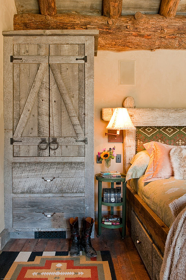 Cozy rustic bedroom design