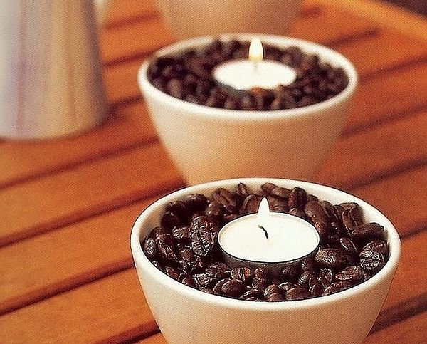 diy coffee beans candles DIY Candle Holder Ideas to Brighten Your Home