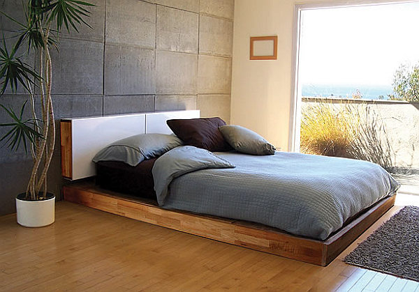 Easy to build diy platform bed designs Simple wood bed frame designs