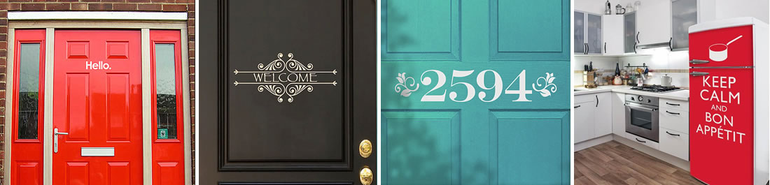 door decals Door Decals Give Life to Your Home Design
