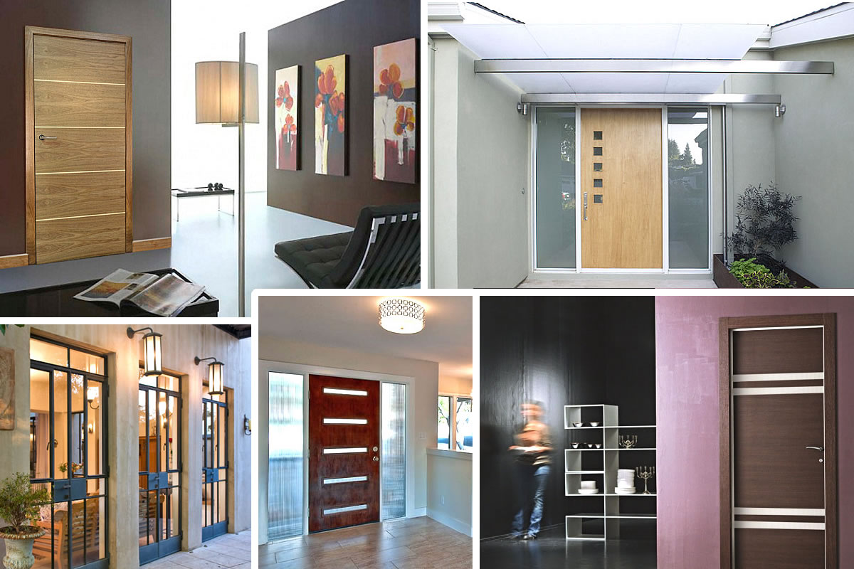 10 stylish door designs for Office front door design
