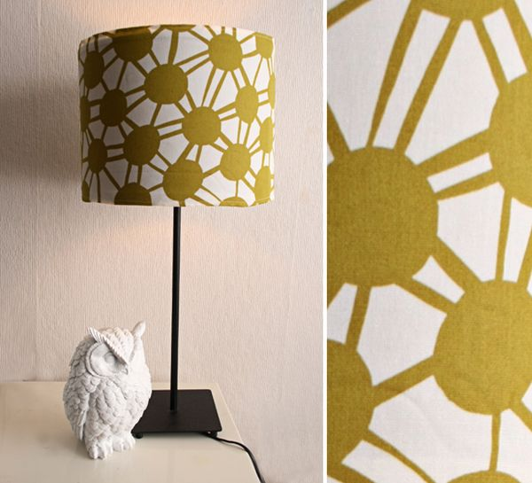 fabric covered lampshade 8 Cool DIY Lampshade Designs