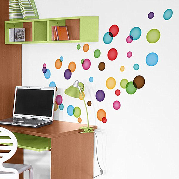 floating bubbles wall decals