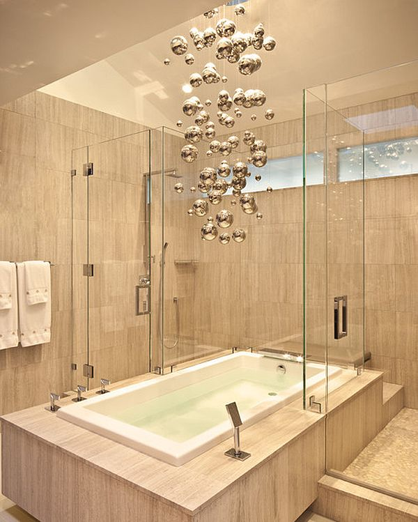 Best Bathroom Lighting Fixtures: View in gallery Funky shaped bathroom lighting fixture,Lighting