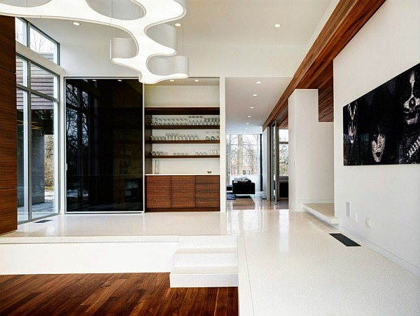 glossy living room