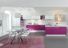 Purple Finishes For Kitchens With Style