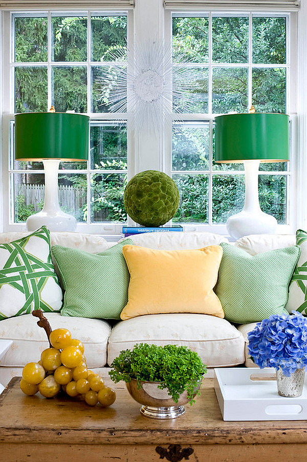 Beautiful green living room decor