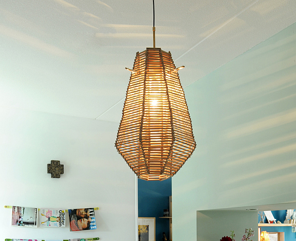 hanging copper lampshade
