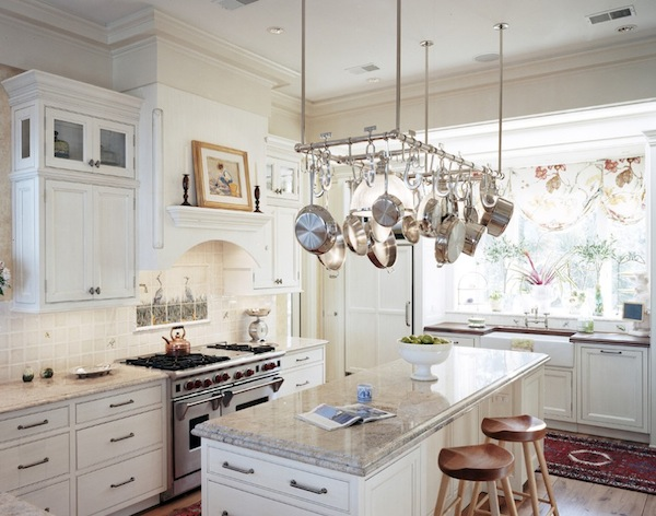 View In Gallery Hanging Pot Rack Kitchen