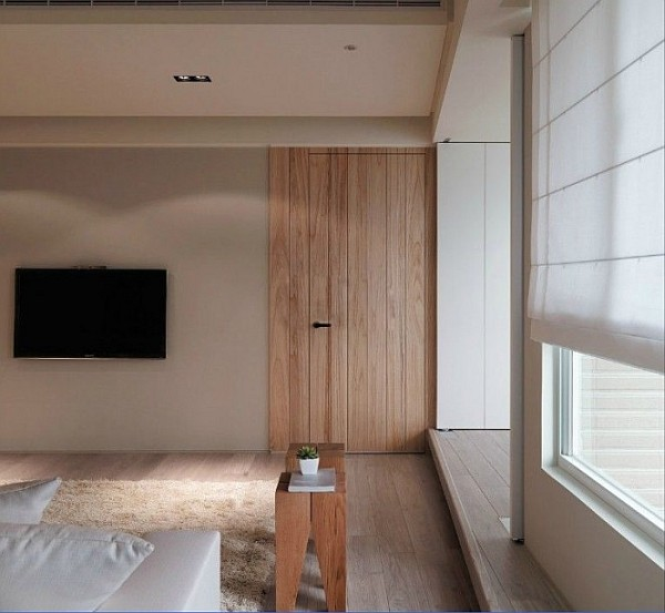 Sophisticated Asian Apartment With Neutral Colors And
