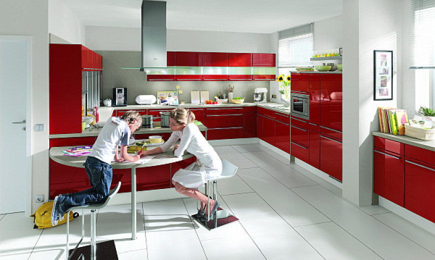 Hot Red For Kitchens With Attitude