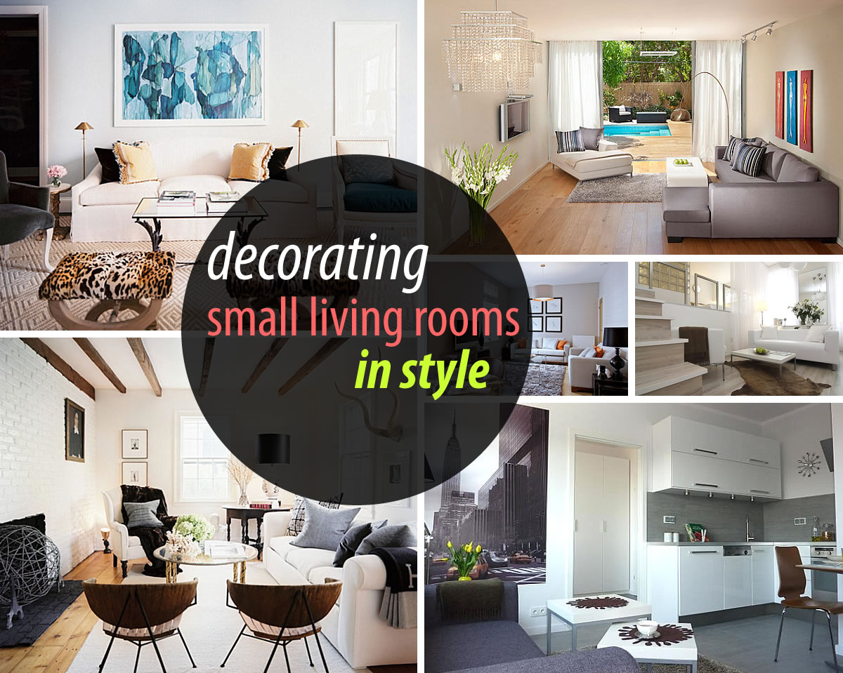How to decorate a small living room Designs for small living rooms