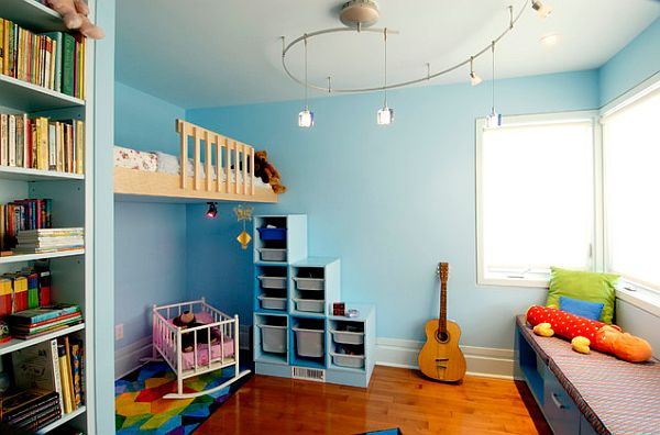 Blue themed kids bedroom design