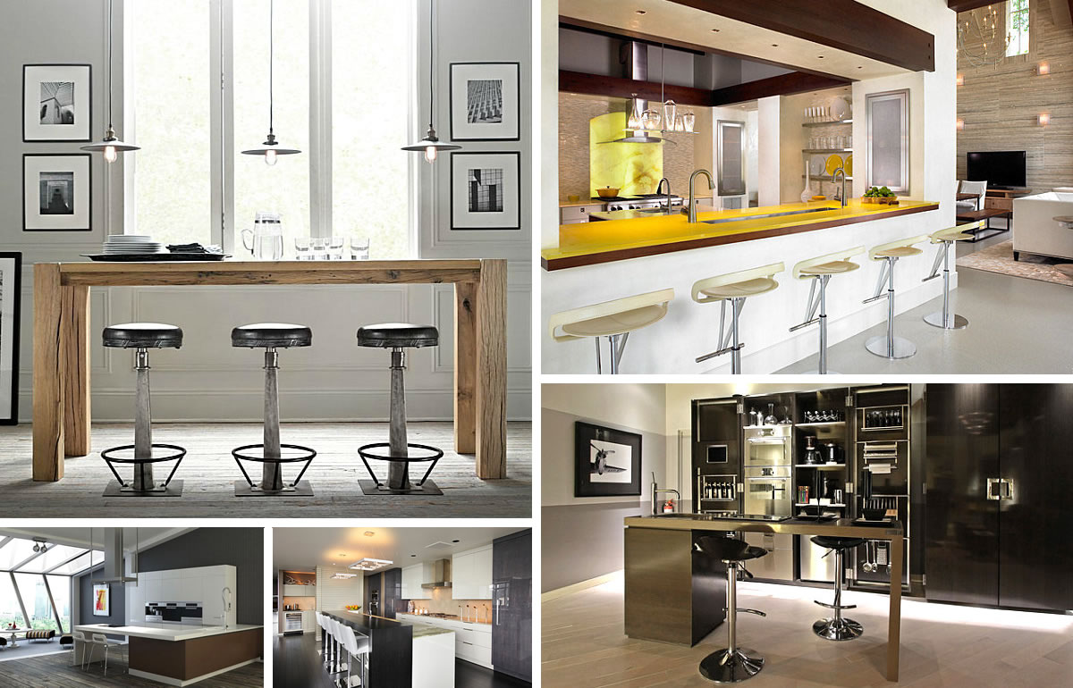12 Unforgettable Kitchen Bar Designs : kitchen bar chairs from www.decoist.com size 1200 x 770 jpeg 191kB