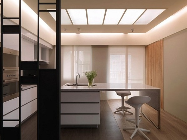 kitchen island as intimate dining table