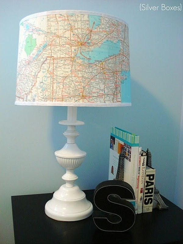 Create this cool lampshade using an old map