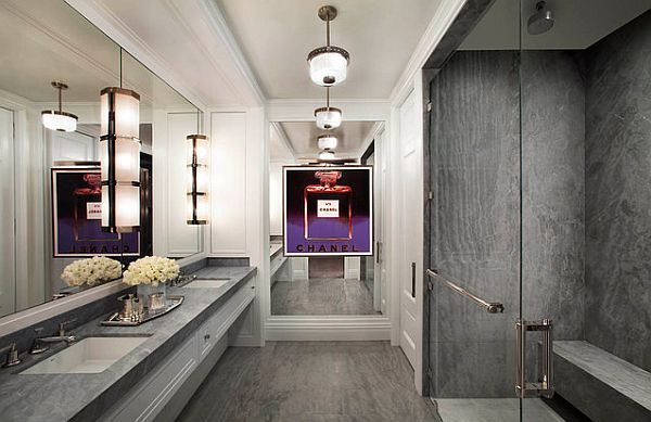 Modern Art Deco Bathroom With A Fashion Flair