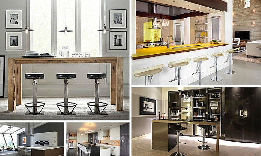 12 unforgettable kitchen bar designs rh decoist com bar table design for home bar table design in living room