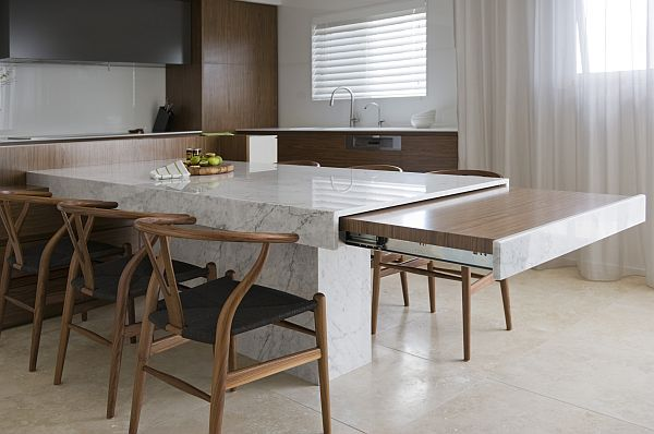 modern kitchen table that extends