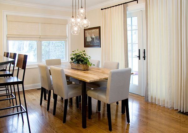 View In Gallery Modern Lighting Fixture For A Stylish Dining Room