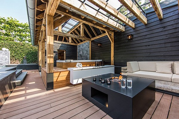 modern outdoor patio
